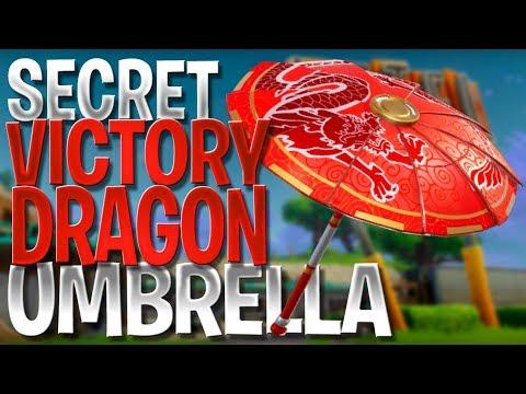 Fortnite Battle Royale *NEW* Hidden Dragon Umbrella (Victory Royale Paper Parasol *SECRET* Umbrella)