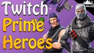 FORTNITE - How To Get Twitch Prime Heroes For Free (Havoc And Sub Commando)