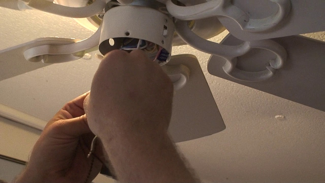 Replacing The Pull Chain Switch On Hampton Bay Ceiling Fan Youtube Way Wiring Diagram How To Wire A 3