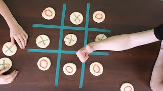 Tic Tac Toe Game With Cookies  DIY Tic Tac Toe Cookies  Kids Cooking  Stay Home And Cook With Kid