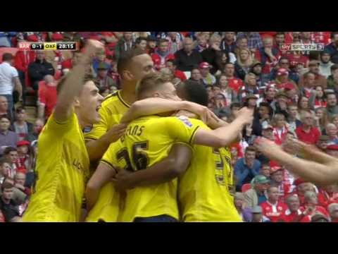 Barnsley 3-2 Oxford Utd JPT Final Highlights (15/16)