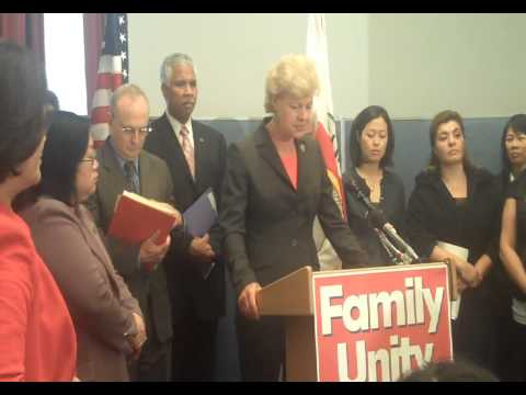 Rep Tammy Baldwin (WI-02) speaking at Reuniting Families Act Press Conference