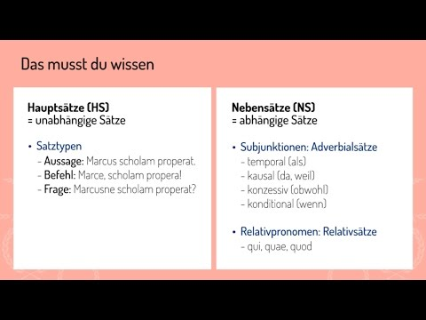 haupt und nebensatz unterscheiden video latein mit learnattack - Adverbialsatze Beispiele