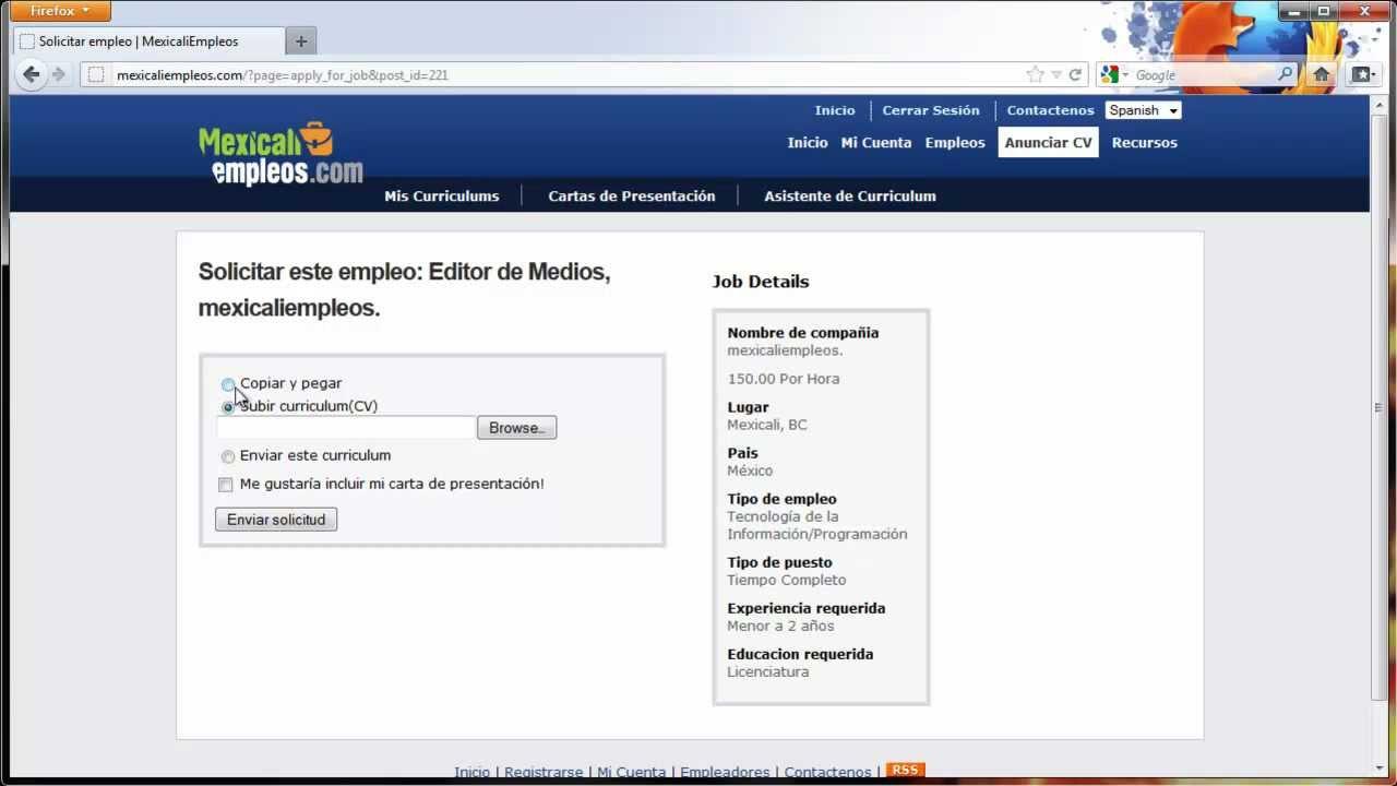 Cómo mandar solicitudes de empleo - YouTube