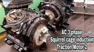 3 phase Squirrel cage induction Traction motor of wdp4 locomotive