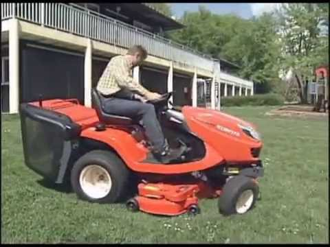 Kubota Gr2120 Diesel Ride On Mower Youtube