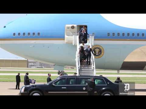 Obama Lands in Dallas for Police Memorial