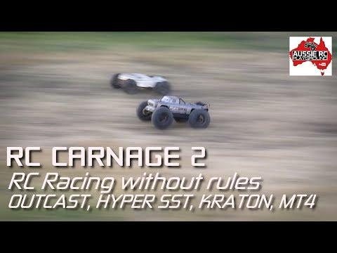 RC Carnage 2 - OutCast vs Hyper SST vs MT4 vs Kraton
