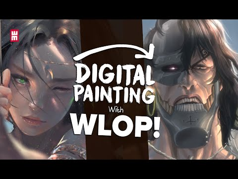 I Tried Following A WLOP TUTORIAL | Anime Digital Speed Painting
