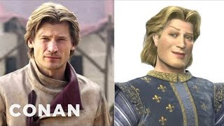 "Jaime Lannister Looks Just Like Prince Charming From ""Shrek"" - CONAN on TBS"