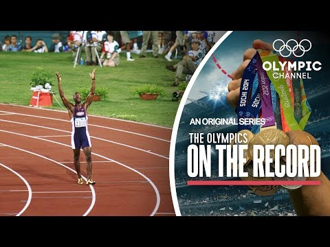 Michael Johnson takes his Golden Shoes to Victory at Atlanta 1996 | The Olympics On The Record