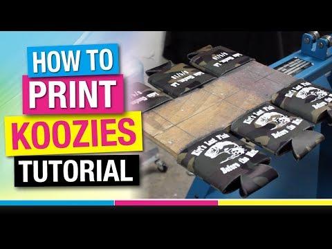 Step By Step - How To Screen Print Custom Koozies