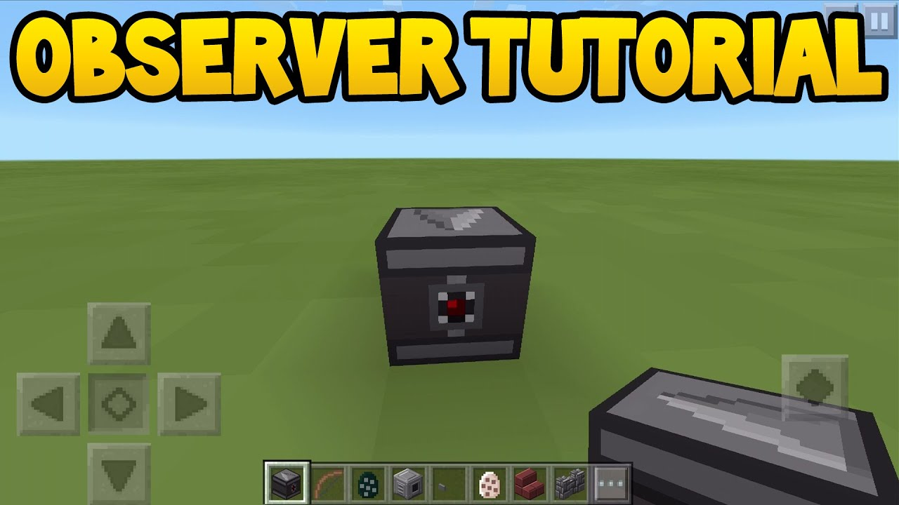 Minecraft PE - 0.15.0 Update! - How To Use Observer Block ...