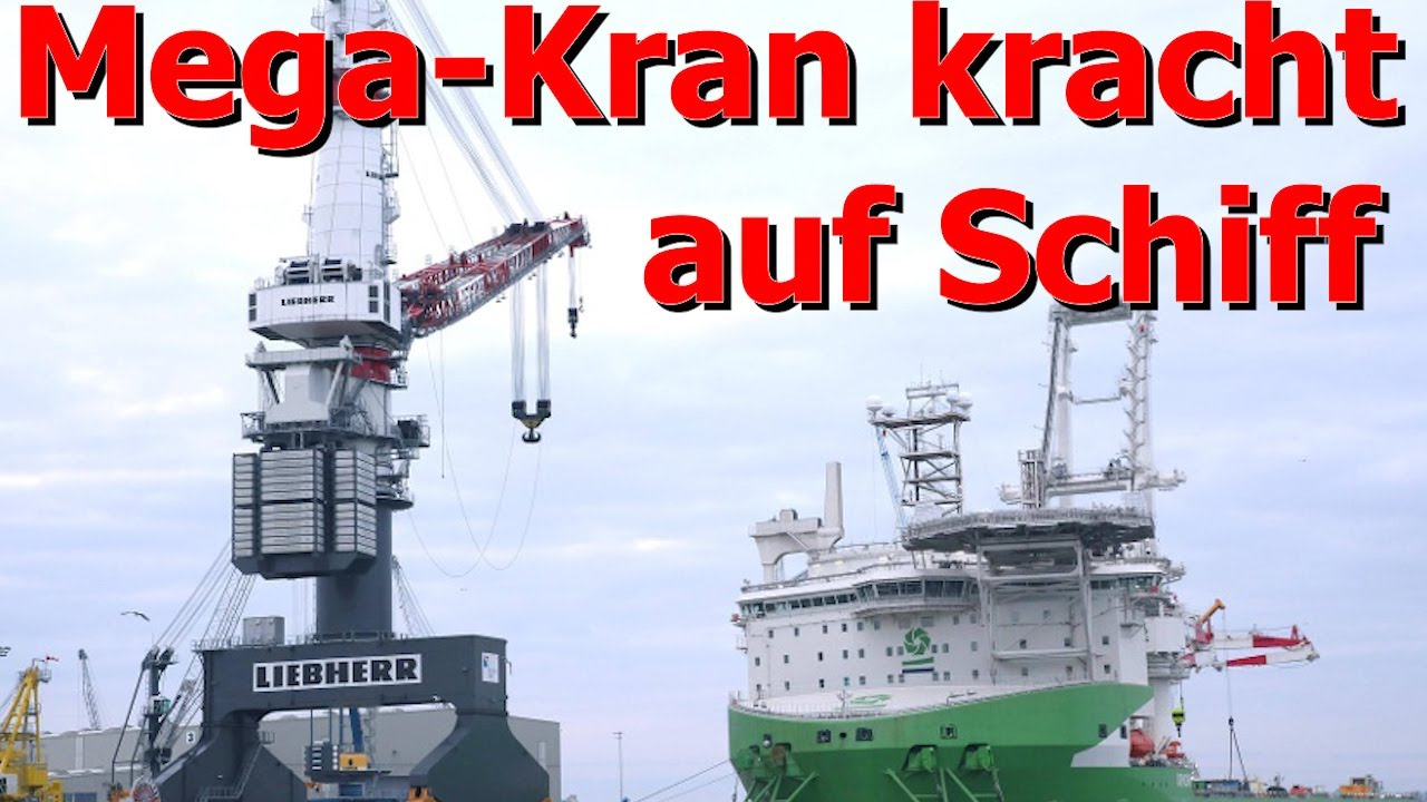 Mega-Kran kracht auf Schiff – fünf Verletzte Rostocker Überseehafen