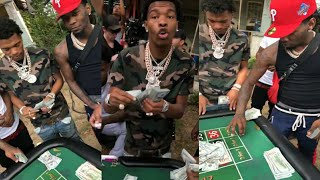 LIL BABY TURNS VIDEO SHOOT TO REAL LIFE DICE GAME