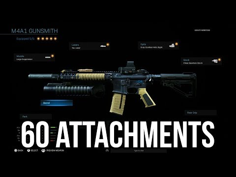 OVER 60 ATTACHMENTS on one weapon.. (Modern Warfare Gunsmith)