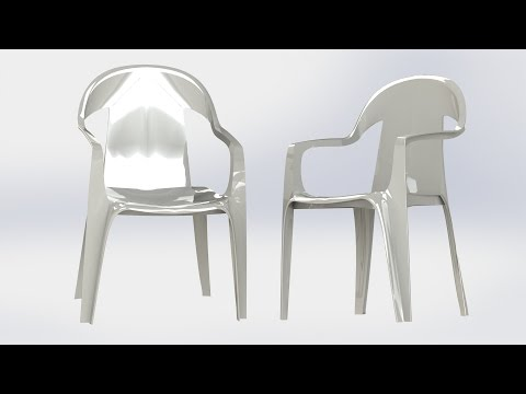 Solidworks 2016 - Plastic chair.