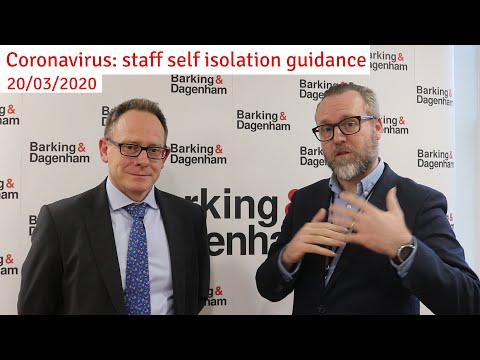 Self-isolation guidance from Chris Naylor and Matthew Cole, Director of Public Health