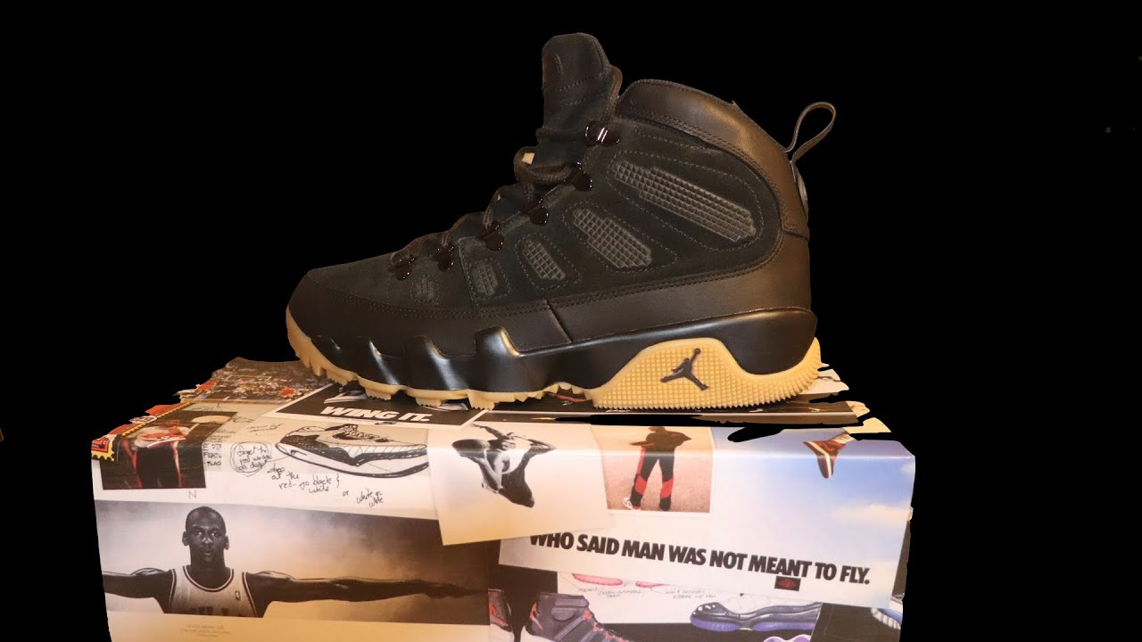 Air Jordan 9 Boot Nrg Black Gum