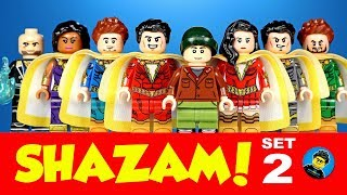 Lego SHAZAM Set 2 Unofficial Minifigures w/ Billy Batson Mary Marvel DC Comics Superheroes