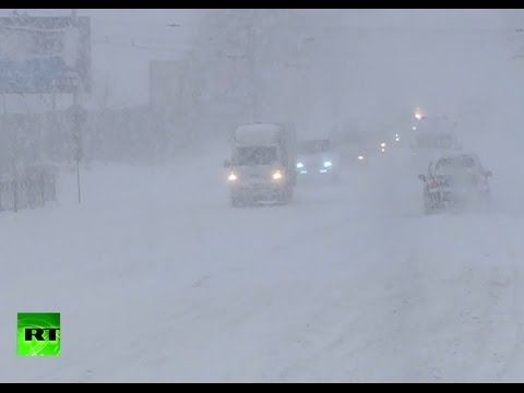 Freak Russian blizzard: Mad snow storm swallows cities in Far East