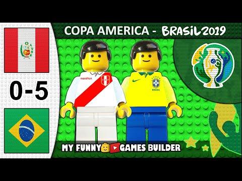 Peru vs Brazil 0-5 • Copa America 2019 Brasil (22/06/2019) All Goals Highlights Lego Football Film