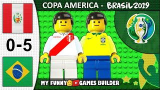 Peru vs Brazil 0-5 • Copa America 2019 Brasil (22/06/2019) All Goals Highlights Lego Football Film