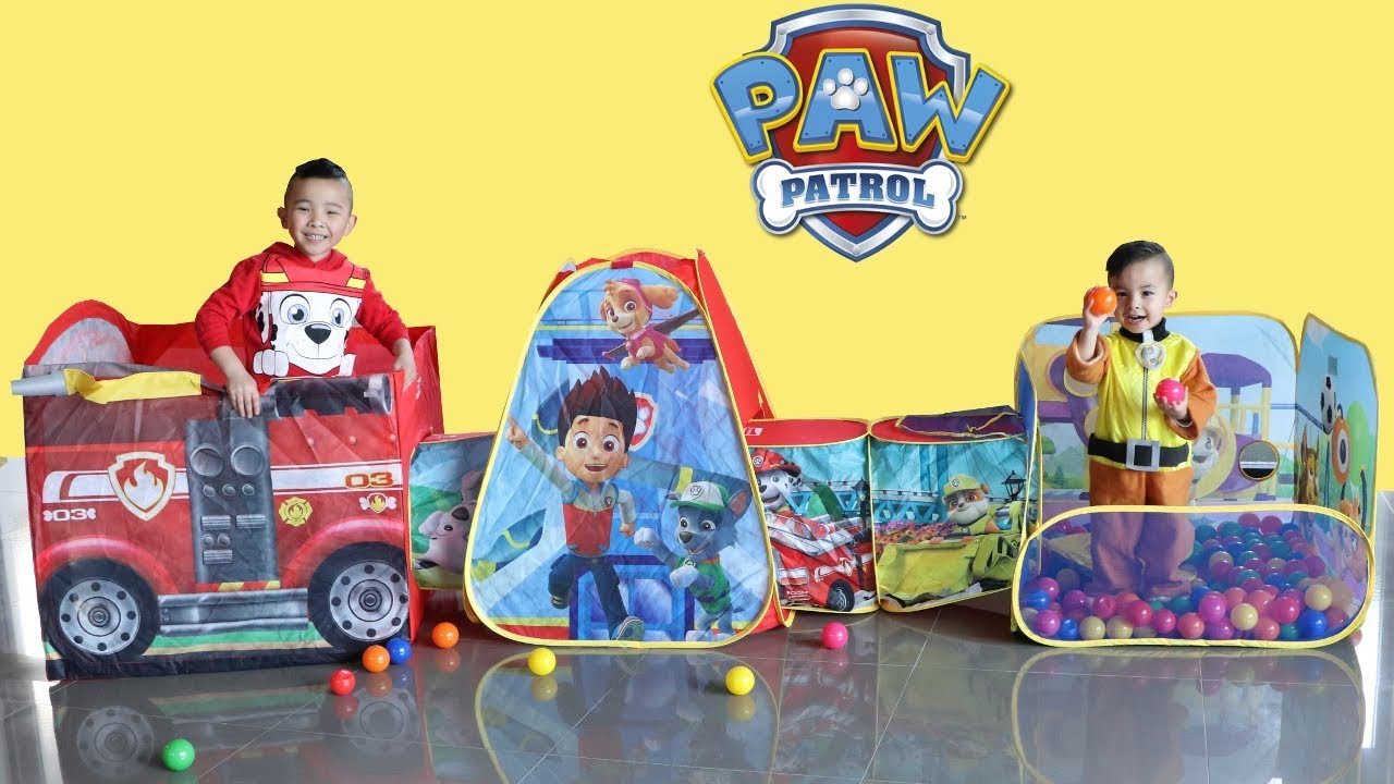 timeless design 0c151 64163 PAW PATROL PAWsome Play Tent Kids Pretend Play Indoor Fun With Ckn Toys