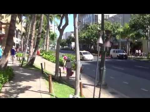 Kalakaua Avenue Honolulu Oahu HD