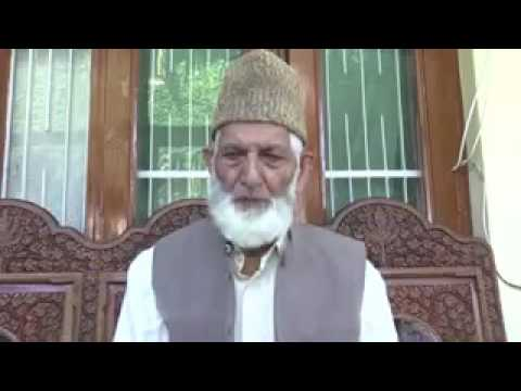 Kashmir: Syed Ali Geelani speaking after police foil his press conference