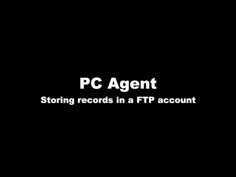 PC Agent - Storing records in a FTP account