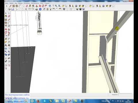 Стальной каркас промзданий. 6 Предельная гибкость, расчет. (Steel frame industrial buildings)