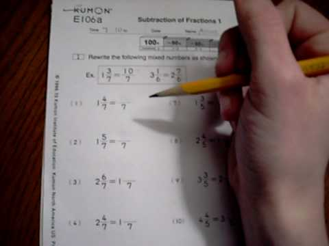 Printables Kumon Worksheet kumon example worksheet youtube
