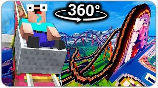 МАЙНКРАФТ 360°: НУБ на АДСКИХ ГОРКАХ! 3D ПОЛНОЕ ПОГРУЖЕНИЕ! MINECRAFT В РЕАЛЬНОЙ ЖИЗНИ! VR