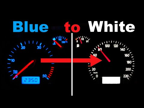 VW T5 Tachoumbau Blaue Beleuchtung zu Weiss