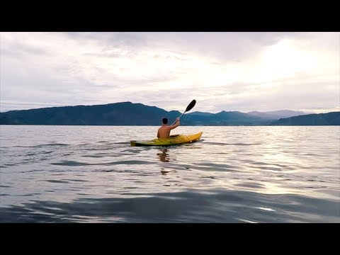 KAYAKING IN THE CRATER OF A SUPER VOLCANO || SUMATRA, INDONESIA
