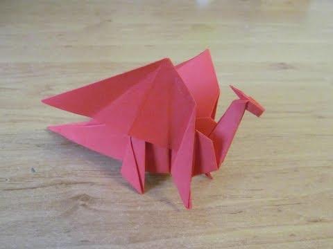 Как сделать Дракона из бумаги Бумажный дракон Оригами Paper Dragon ORIGAMI