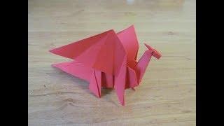 як зробити з паперу дракона схема