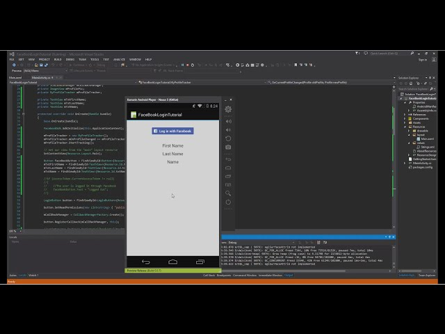 Xamarin Android Tutorial   69   Facebook Profile Info