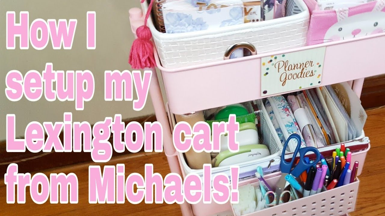 78f85976d59d How I setup my Lexington cart from Michaels | 2018 | Planning With Eli