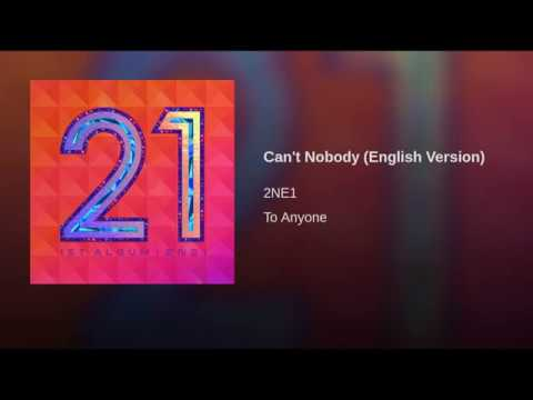 Cant Nobody English Version