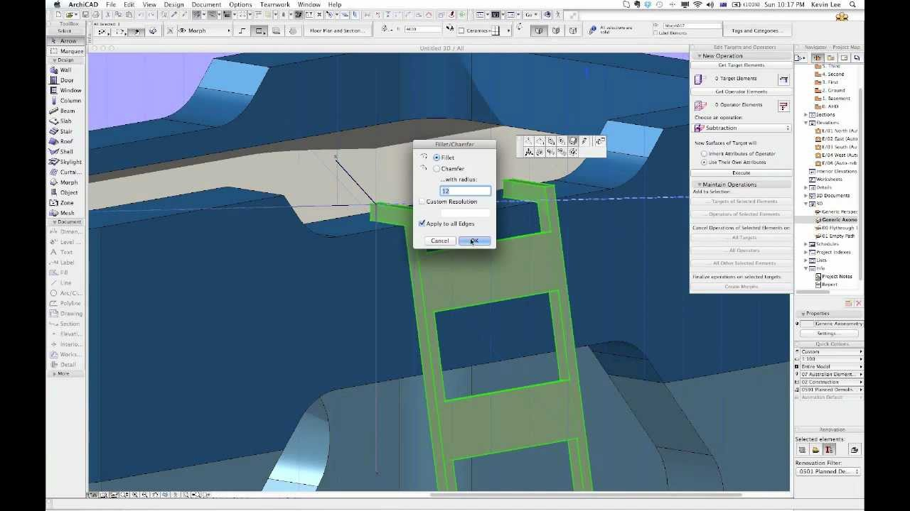 Archicad 16 Morph Bunky Bunk Bed Youtube