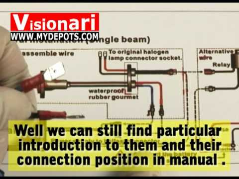 how to install hid kit if designed without plugs youtube rh youtube com HID Light Relay Wiring Diagram HID Ballast Wiring Diagram