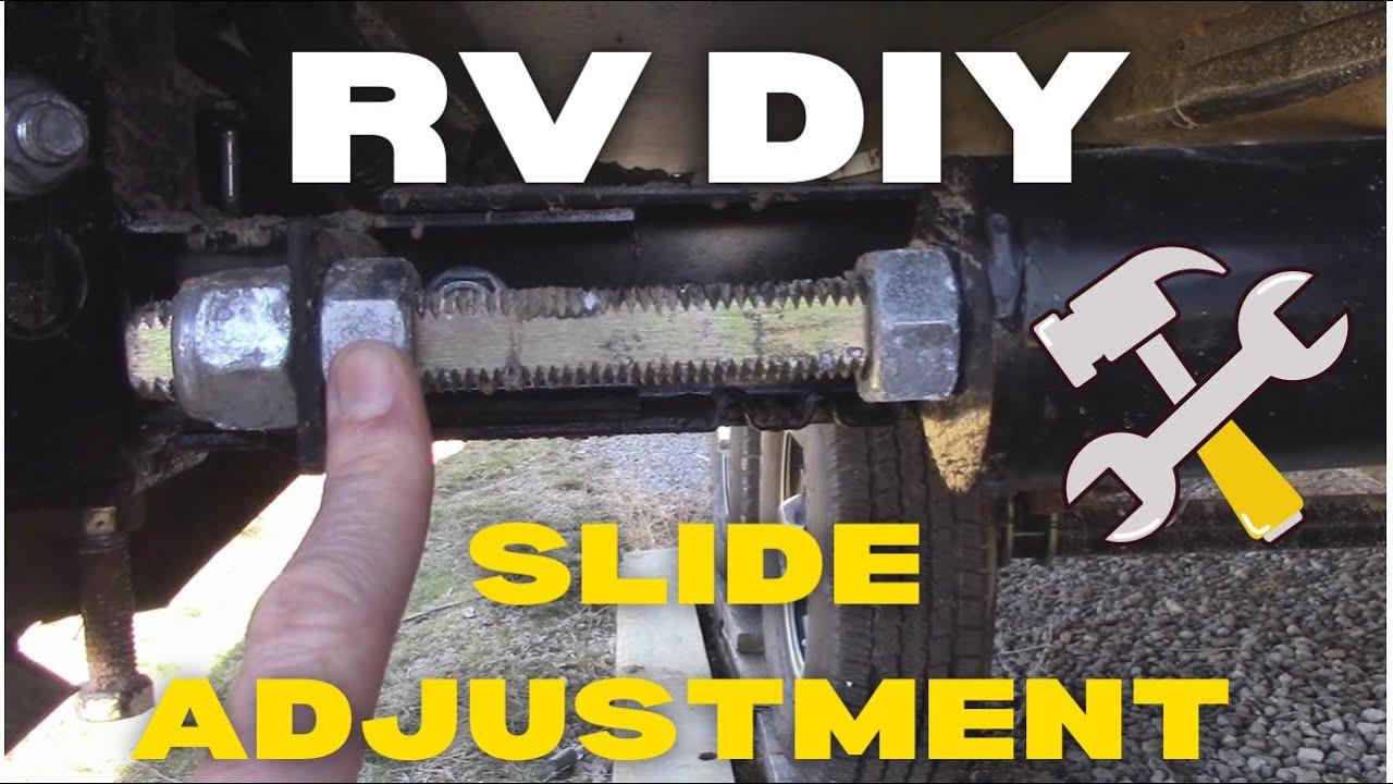 RV Slide Adjustment  YouTube