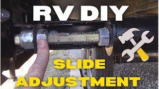RV Slide Adjustment