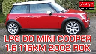 Montaż LPG Mini Cooper z 1.6 116KM 2002r  w Energy Gaz Polska na gaz BRC SQ 32 OBD(, 2016-12-16T15:07:28.000Z)