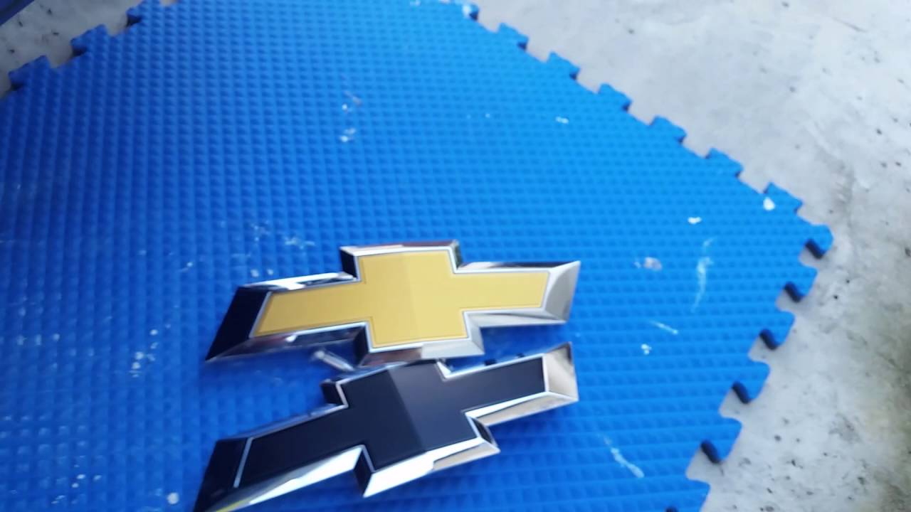 All Chevy blue chevy bowtie emblem : 2016 Silverado Black Front Bowtie Removal & Install - YouTube