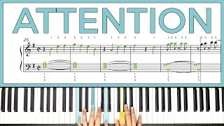 How to play 'ATTENTION' by Charlie Puth on the piano -- Playground Sessions
