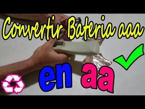 Convertir baterias AAA a AA de  Manera Casera