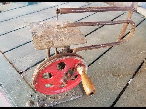 RARE!!! Hand powered 1923 Delta Scroll Saw Restoration.